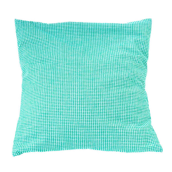 Stone pine cushion 40 x 40 cm green white